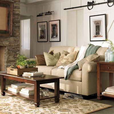style news celebrity homes living room design in earth tones