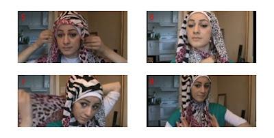 memakai jilbab pasmina