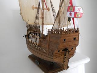 maqueta de la carabela de Colón