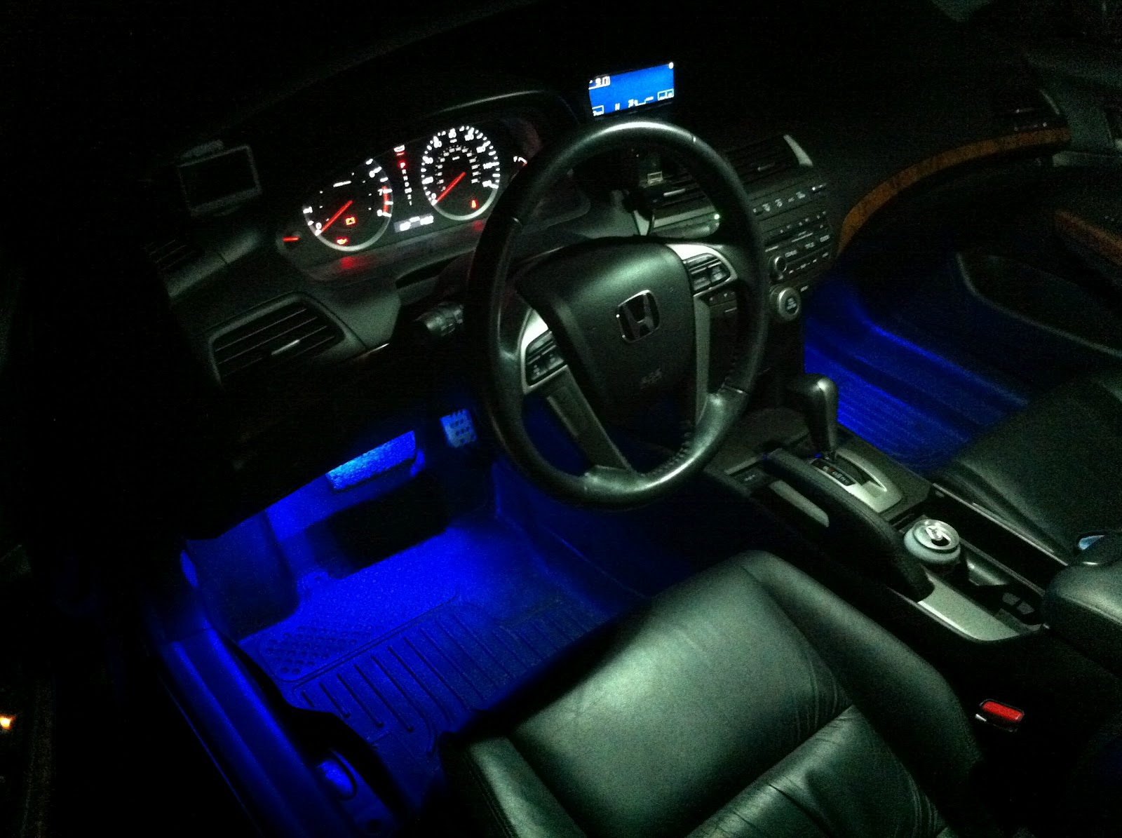 2011 accord inspire build blue led car interior lighting kit 4pc lu sc01. Black Bedroom Furniture Sets. Home Design Ideas