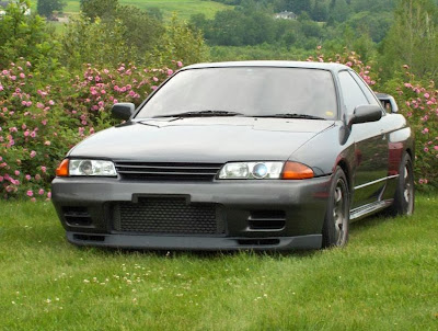 Grey 1989 Nissan Skyline GTR R32 Imported to America