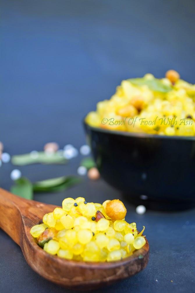 Lemony Sabudana recipe (Sabudana Kichdi)