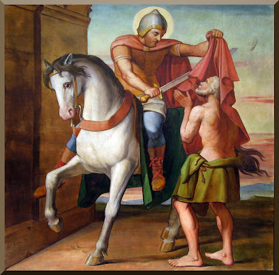 """The Charity of St. Martin"" -- by Louis Anselme Longa"