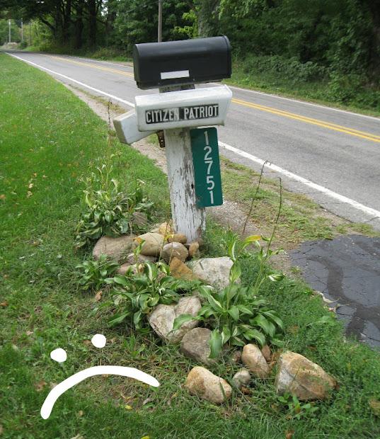 kammy's korner mailbox makeover landscaping