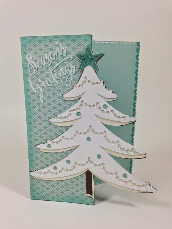Cricut White Christmas Tree card