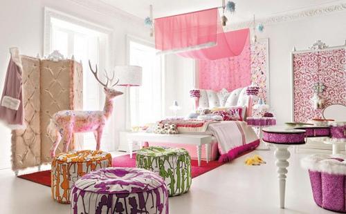 desain interior rumah pink