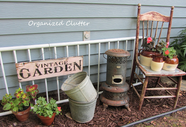 Vintage Garden Junk Vignette