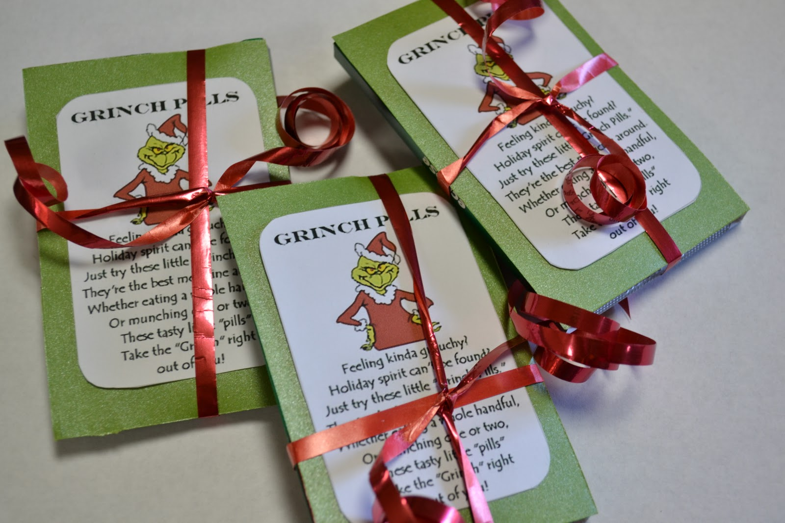 photo regarding Grinch Pills Free Printable called Those people 3 Girlies: Reindeer Poo and Grinch Products