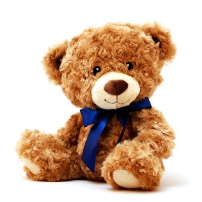 Boneka Teddy Bear Cokelat Lucu Pakai Dasi Warna Biru
