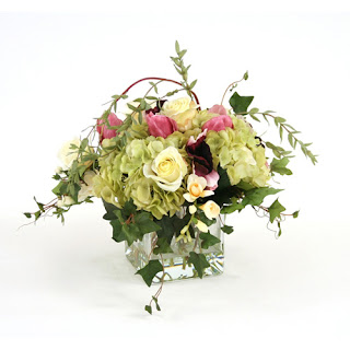 Mixed Floral Faux Flower Arrangement