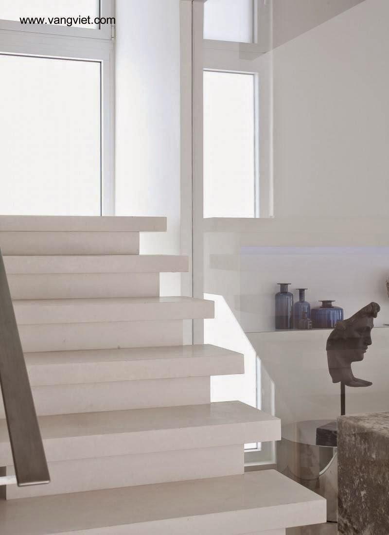 Arquitectura de casas 15 escaleras contempor neas blancas for Construir escalera de concreto