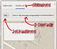 Cara Menyimpan Peta Ke Dalam Halaman Blog