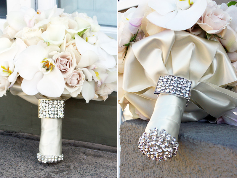 Bridal Flowers With Bling : Bridal shorts bling bouquet