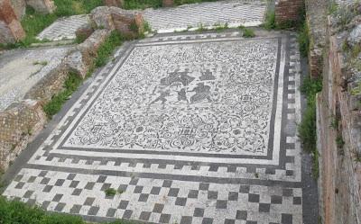 Mosaik in Ostia Antica