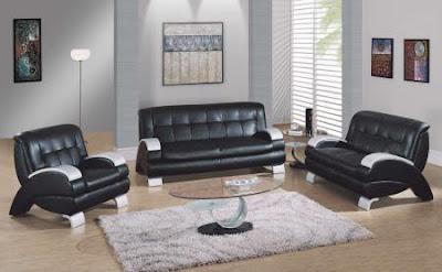 sala estar muebles negros
