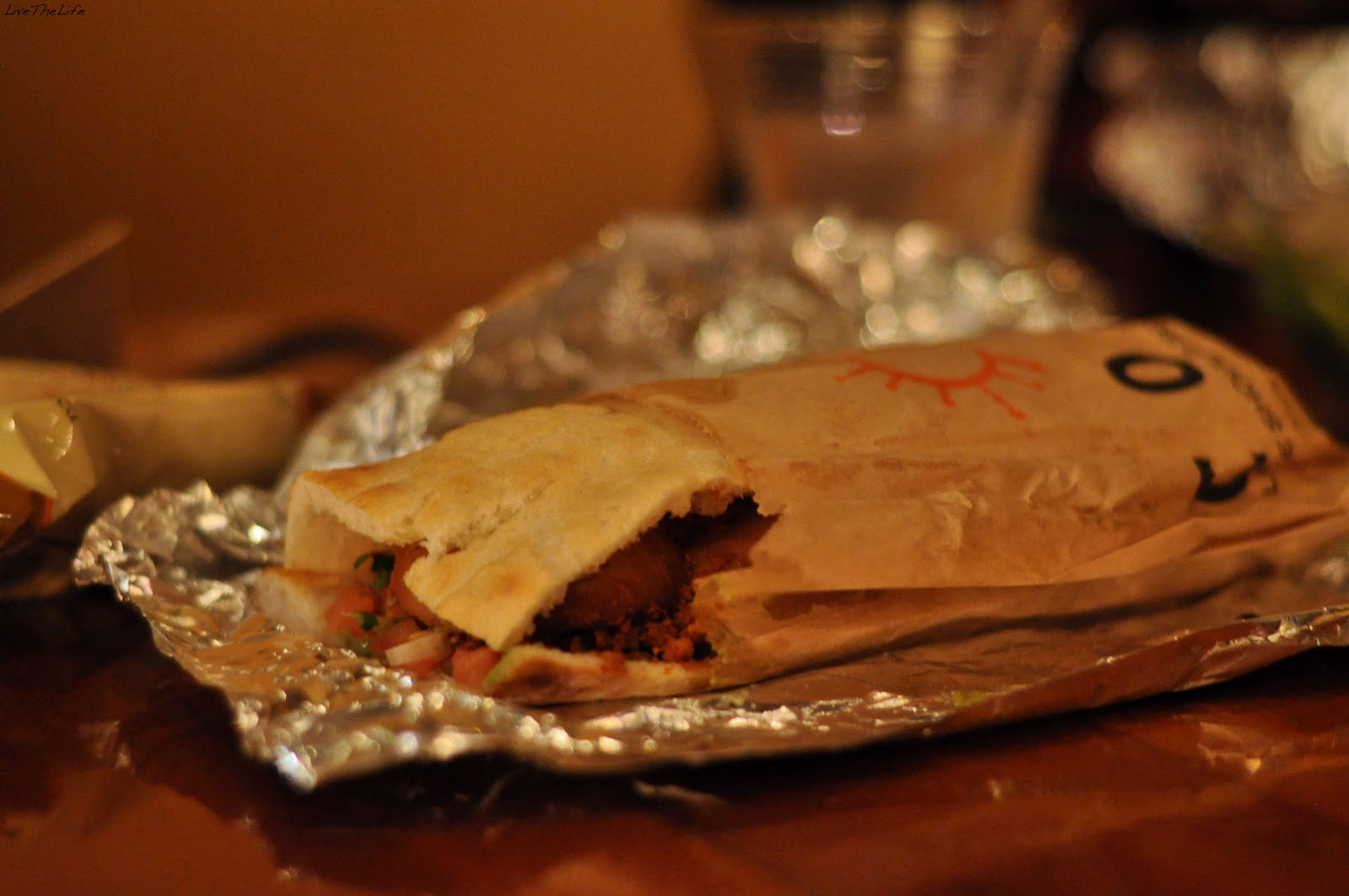 My Chicken Tinga sandwich which was incased in freshly baked flatbread ...
