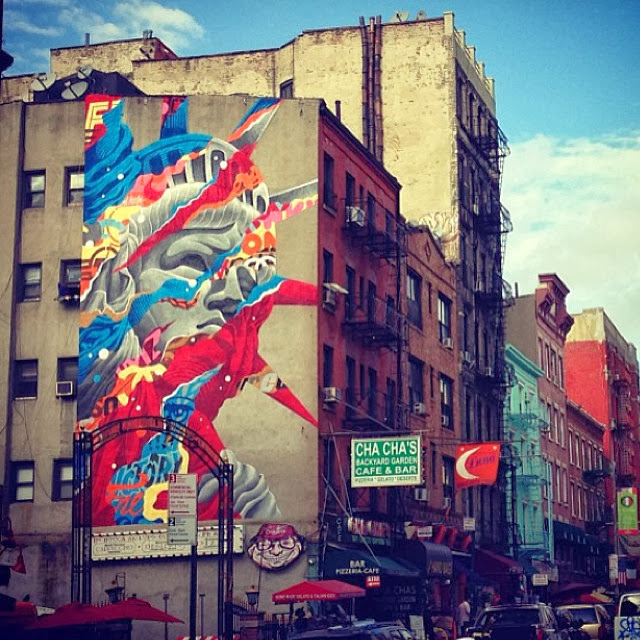 """Liberty"" New Street Art By Tristan Eaton For The Lisa Project In New York City, USA. 2"
