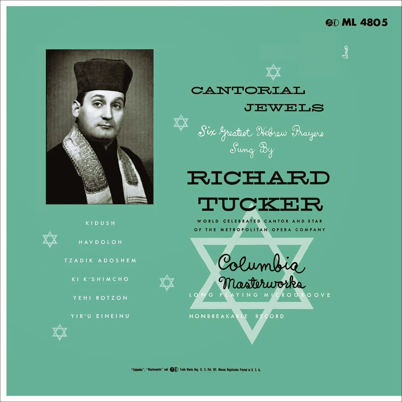 La Castafiore Richard Tucker The Song And Cantorial