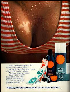 propaganda bronzeador Wella - 1971, propaganda anos 70; história da década de 70; Brazil in the 70s; Oswaldo Hernandez