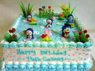 Gambar Kue Ulang Tahun Doraemon dan Teman-Teman