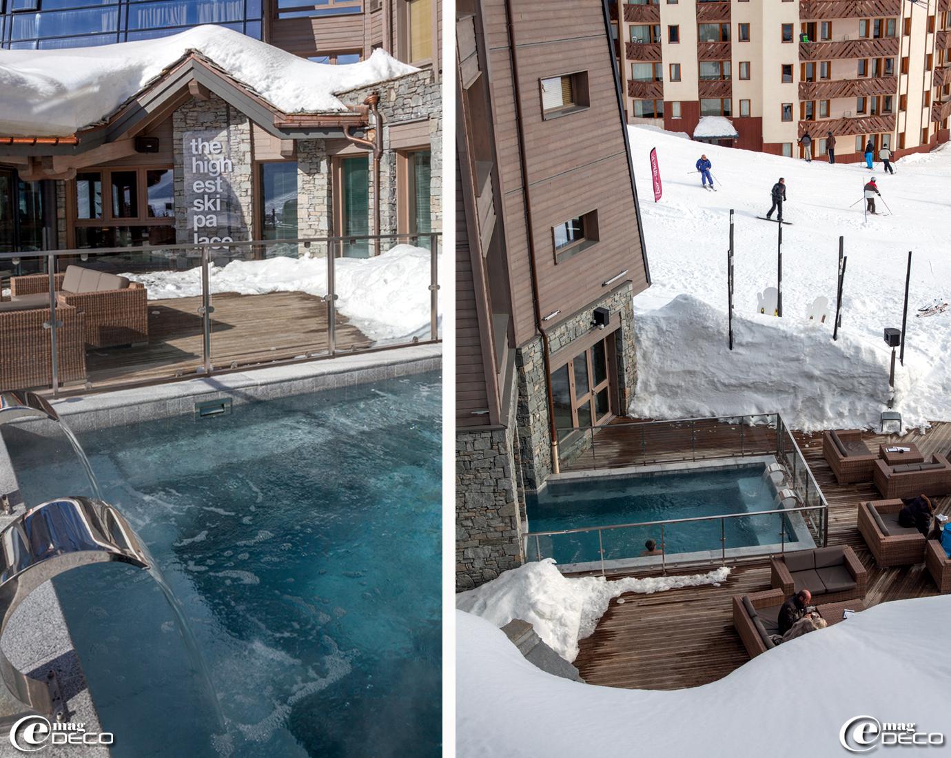 Piscine de l'hôtel cinq étoiles 'Altapura' dans la station de ski Val Thorens