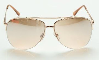 Le Chateau Rose Gold Aviator Sunglasses
