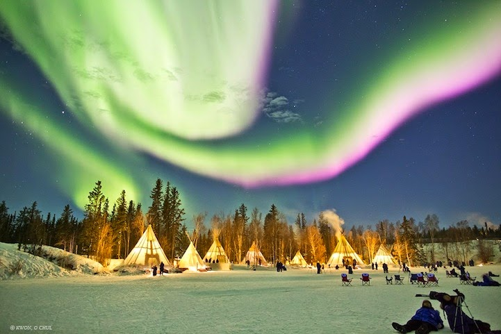 Dazzling Displays Of Aurora Borealis Dance Across The