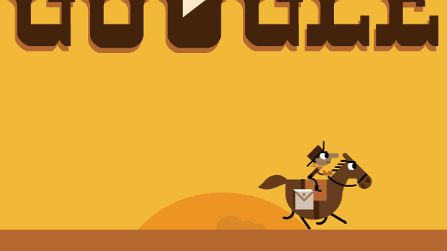 155th Anniversary of the Pony Express Google Doodle
