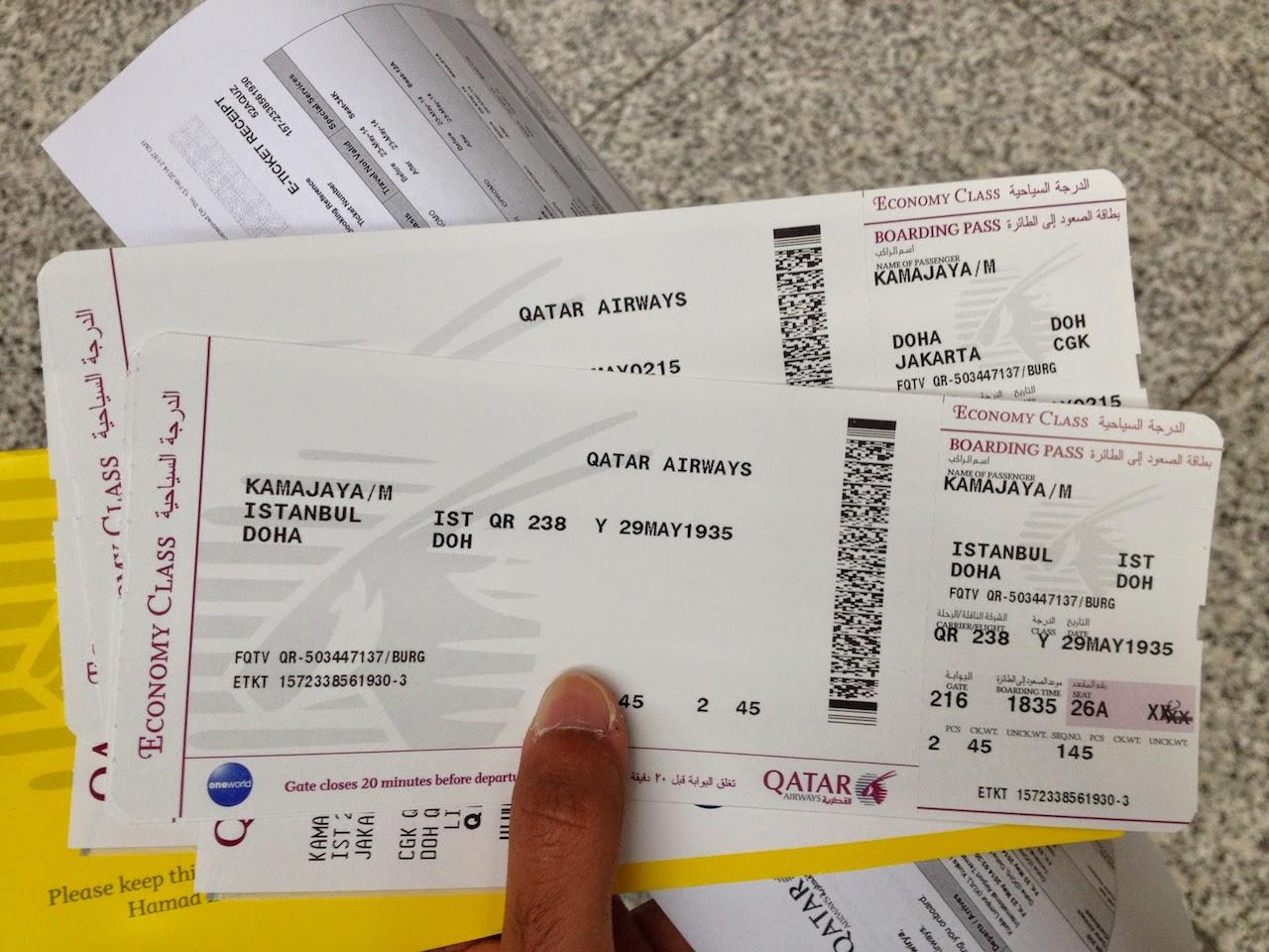 Terbang Dengan Qatar Airways The Story Of My Life Tiket Jakarta Ke Jepang Pergi Pulang Garuda Indonesia Boarding Pass Ist Doh Dan Cgk