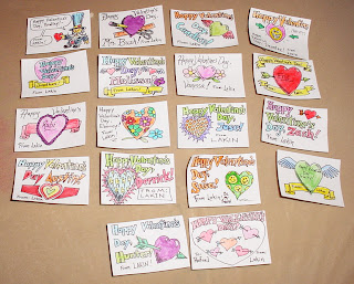 Valentine Cards for Lakin's class