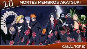 10 mortes membros Akatsuki - Naruto