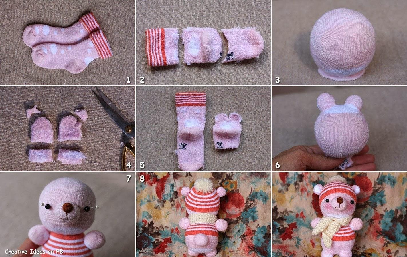 Como realizar juguetes con material de reuso perrito de - Hacer munecos con calcetines ...