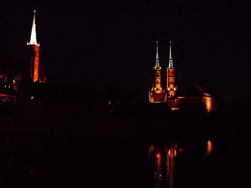 photo TAKEN ON Ostrów Tumski, WroclaW, at night  by Andie Gilmour