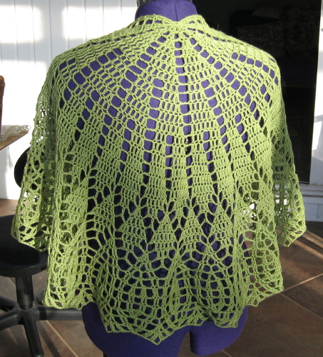Free Crochet Pattern Half Moon Shawl : Simple Knits: On Top of the World Shawl to Crochet