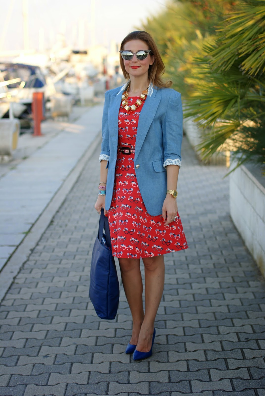 Blackfive denim blazer, nava design shopper bag, sergio levantesi shoes, Fashion and Cookies, fashion blogger
