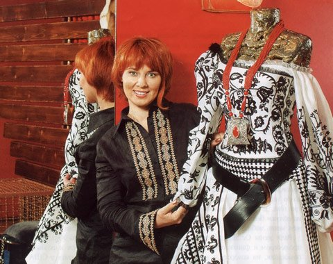 Fashion designer Roksolana Bogutska from Lviv city, Western Ukraine