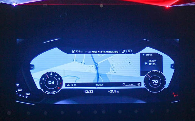 Novo Audi A4 2017 - Virtual Cockpit