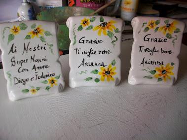 Pergamene 8x6,5 ideali come regalo per le maestre o per messaggi dedica