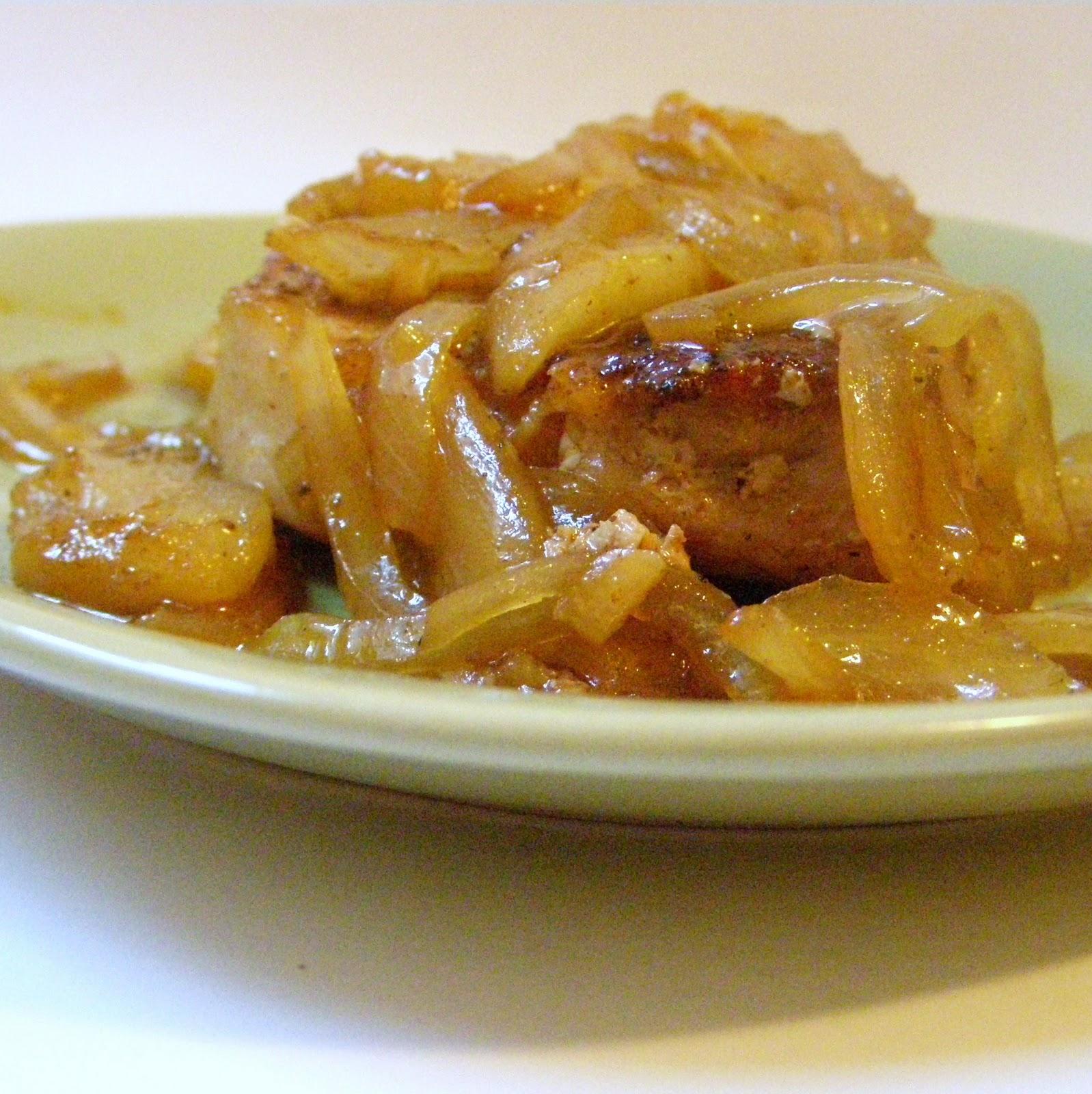 The Growing Foodie: Weeknight Dinner: Spiced Caramel Apple Pork Chops