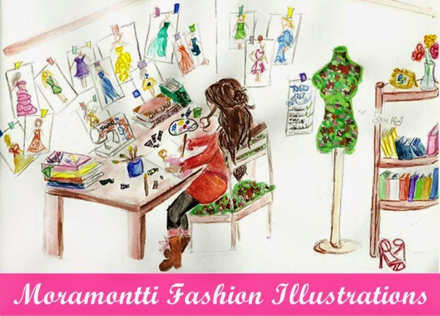 Ilustraciones figurines de moda. Moramontti