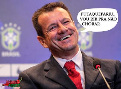 Brasil perde Dunga ri muito