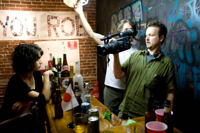 The Passage movie director Matt Reeves filming a scene for Cloverfield with Lizzie Caplan