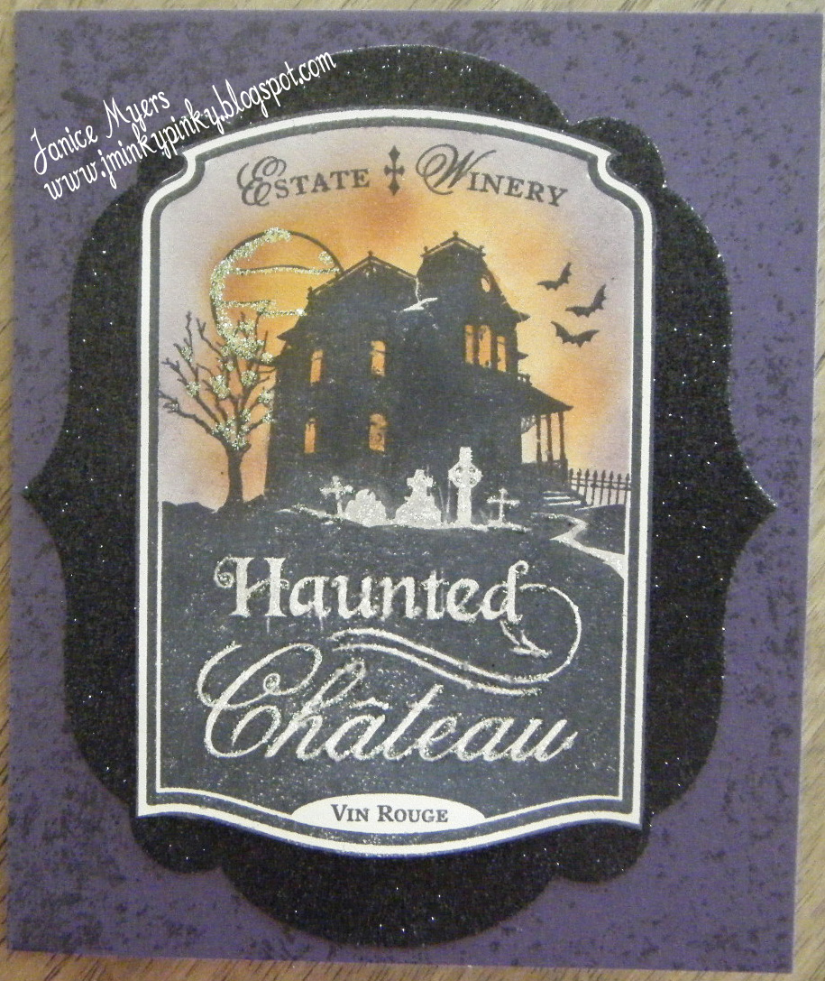 My last card for today is another halloween card i only sent out a