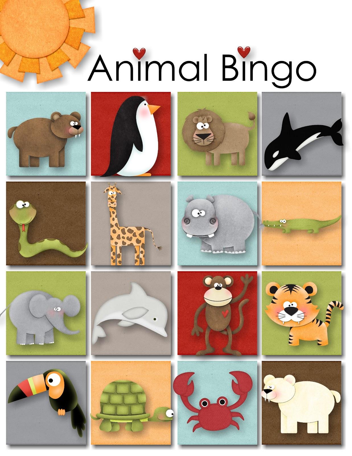 It is a photo of Adaptable Animal Bingo Printable