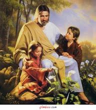"""Deixai vir a mim os pequeninos pois deles é o Reino dos Céus""."