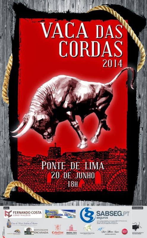 Cartaz da Vaca das Cordas 2014 em Ponte de Lima