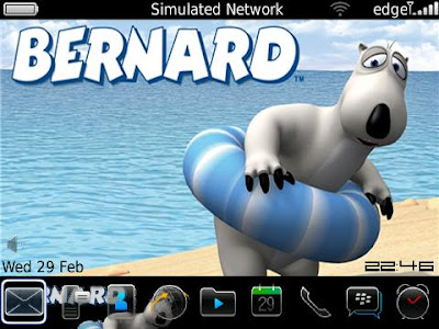 Tema Blackberry Kartun Bernad Bear