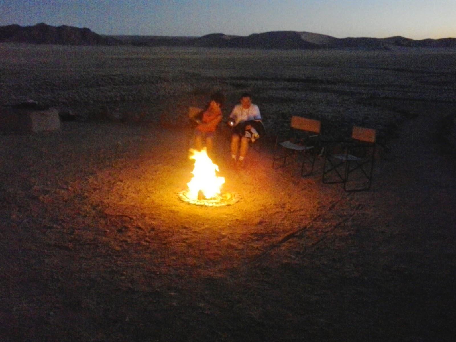 bush television fire namibia safari