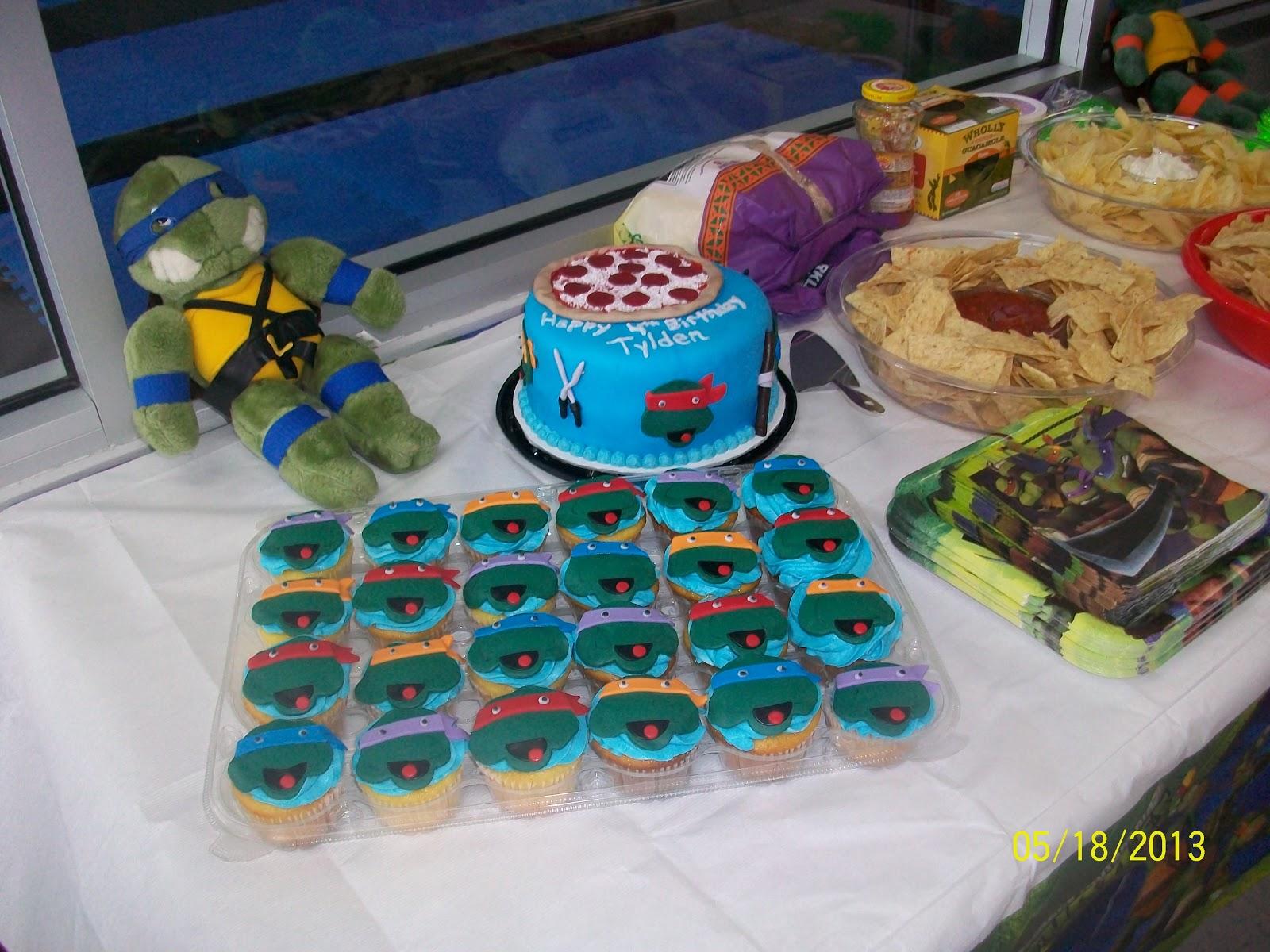 Ninja Turtle Cupcake Cake Walmart Crazywidowfo