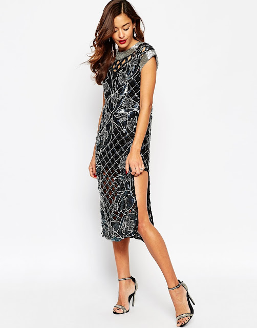 asos red carpet dress, asos sequin dress,